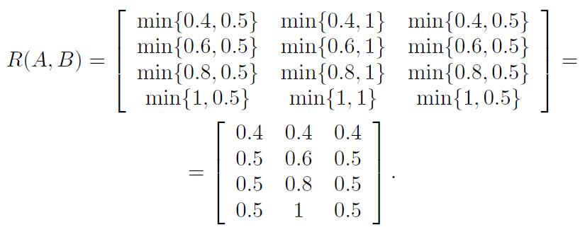 Импликация Мамдани. Пример вычисления