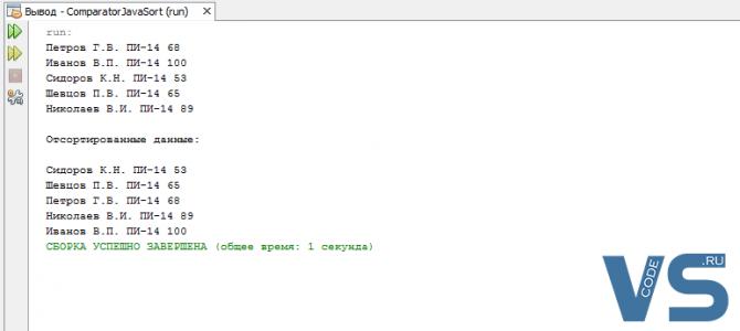 Сортировка в Java