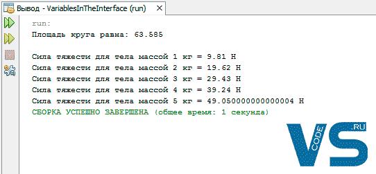 Переменные в интерфейсе Java